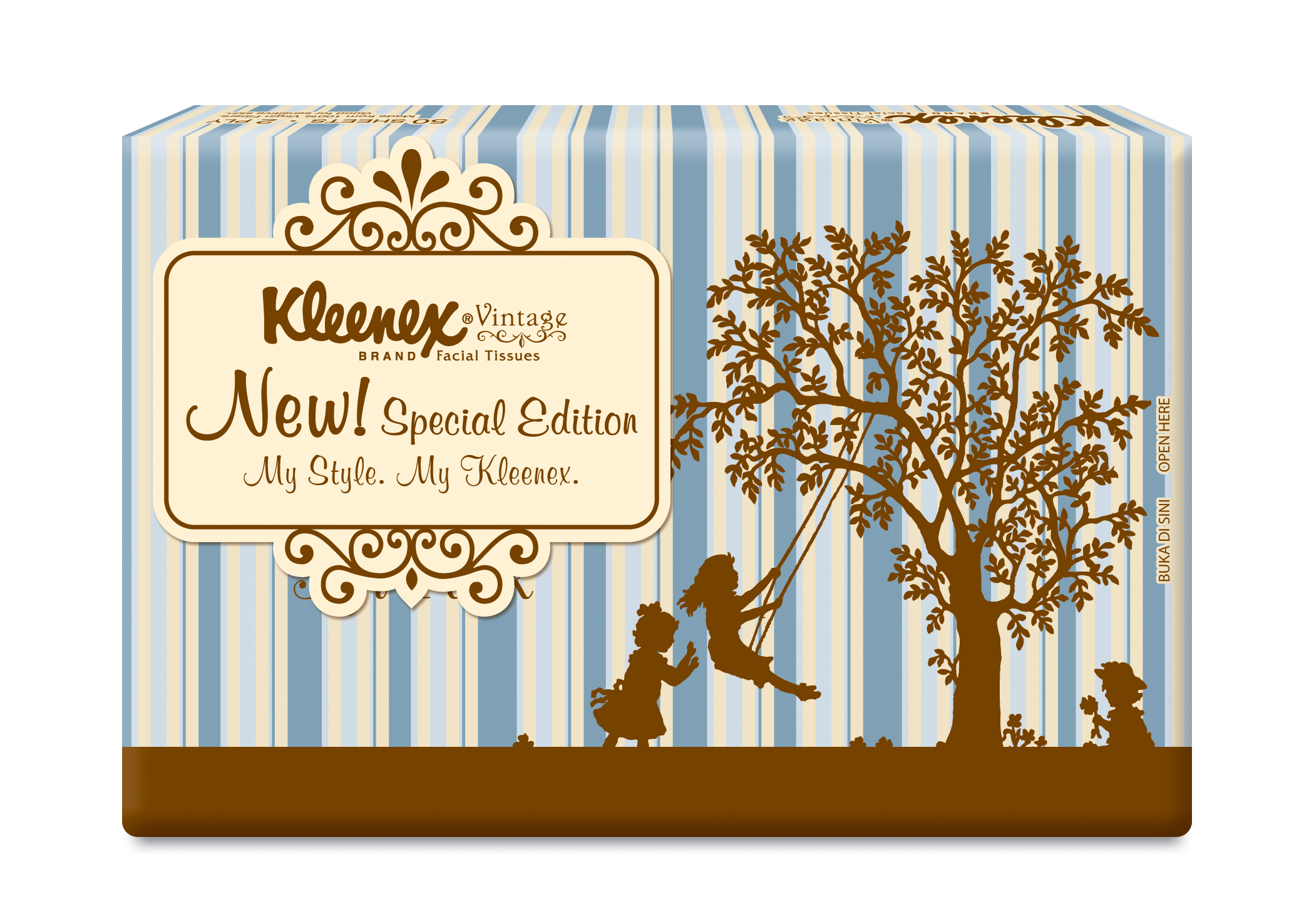 Kleenex Vintage Soft Pack - Brown